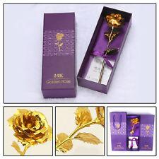 Goldene Gold Rose Valentinstag Muttertag Hochzeit Jahrestag Geburtstag Geschenk