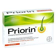 Bayer Priorin Anti Hair Loss Growth - 120 Capsules/Box - German Product