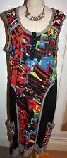 ORIENTIQUE SLEEVELESS TUNIC DRESS WITH DEEP POCKETS - SIZE-18