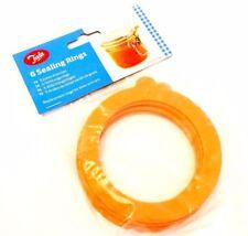 6* Jar Sealing Rings Airtight Tala Replacement Rubber Seal Storage Jars Spare