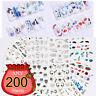 LEMOOC 200/300/400 Sheets Nail Art Stickers Water Decals Transfer Paper Set Xmas
