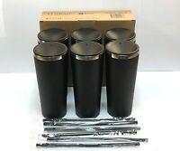 Maars Roadie 22 oz Stainless Steel Tumbler 6 Pack Mate Black Color