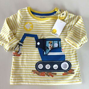 "Mini Boden Baby Boys ""DIGGER"" Lift-Up Flap Shirt. 3-6 Months, Soft and Comfy!"