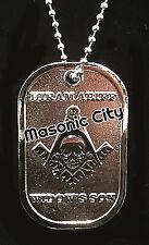 Z-173 DOG TAG In Memory of HIRAM ABIFF Widows Son Masonic NOT Auto Emblem Mason