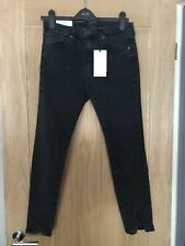 Zara Woman Premium Denim Sophisticated The Skinny Jeans Washed Black UK 12 New