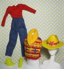clone Barbie Doll RODEO COWBOY COWGIRL CLOTHES OUTFIT HAT VEST BOOTS JUMPSUIT