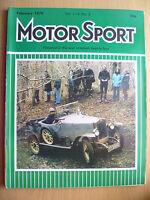 MOTOR SPORT MAGAZINE- FEBRUARY 1978, Vol. LIV, No. 2