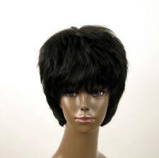 perruque afro femme 100% cheveux naturel courte noir ref SHARONA 03/1b