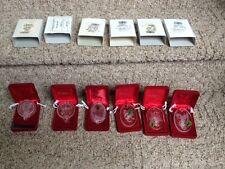 Waterford Crystal Mickey Christmas Ornaments Lot of 6; 1992 thru 1997 NIB