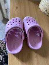 Toddler's Girls Pink Crocs Size C6