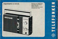 TELEFUNKEN - magnetophon cc nova ts - Bedienungsanleitung Instructions - B2810