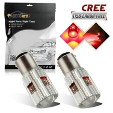 2x Red 25W 210 Lumen 1156 7506 Tail Brake Stop Light Bulb CREE High Power Canbus