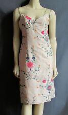 Nanette Lepore 6 Ivory Silk Floral Metallic Embroidery Sheath Dress