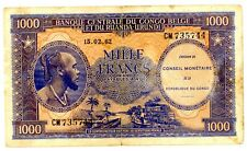 Congo Democratic Rep … P-2 … 1000 Francs … 15-02-1962 . *VF+*