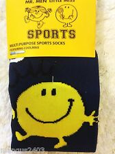 MENS KNEE HIGH QUALITY SKI SKIING FOOTBALL WELLY SPORT BOOT SOCKS MR MEN HAPPY