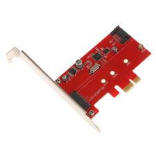 M.2 NGFF SSD + SATA 3.0 PCI-E Tarjeta Express 2X Controlador Adaptador Chip ASM1061