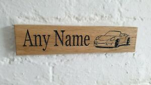 Name & Picture sign Engraved in solid oak