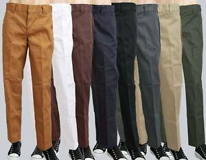 Dickies O-Dog Hose, Slim Straight Workpant 873,bis W42,weiß,Brown Duck,Darknavy