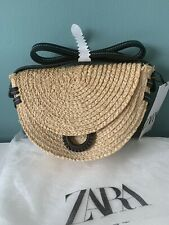 Zara Raffia Crossbody Bag New With Tags 19.99