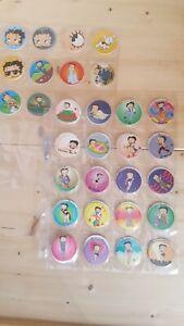 Pogs Type Milk Caps.  Betty Boop.  1995.  Full Set  50 / 50