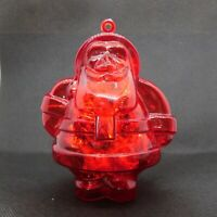 Candy Container Christmas Ornament Vintage Santa Red Hard Plastic Germany