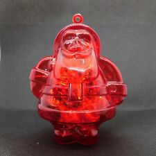 Christmas Candy Container Ornament Vintage Santa Red Hard Plastic Germany