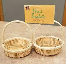 MANGELSEN'S MINI BASKETS SET OF 2 DOLL EASTER PARTY CRAFTS WOVEN WICKER