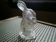 Vintage Glass Rabbit Candy Container With Carrot T. H. Stough