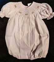 Infant Girls Mom & Me Hand Smocked/Pearls Short Bubble Outfits Sz NB - 6 Months