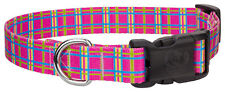 New listing Country Brook Design® Deluxe Bubblegum Pink Plaid Dog Collar - Large