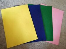 Fieltro A4 16 Hoja Art Craft Home Deco Paquete de Actividades para Niños Rosa Verde Amarillo Púrpura