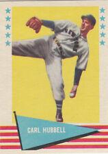 """1961 Fleer #45 Carl Hubbell """"King Carl"""" HOFer New York Giants NRMT"""