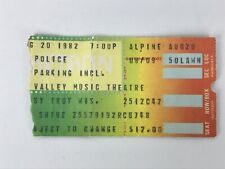 Police Ghost in the Machine Tour Concert Ticket Stub August 20, 1982 Sting