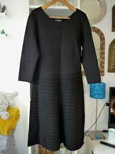 Laura Ashley Size 14 Knitted Jumper Sweater Dress Ribbed Spot Dot Design SUPERB