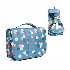 Floral Hanging Roll Up Bag Toiletry Bag Waterproof Cosmetic Makeup Case