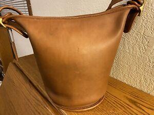 Vintage Coach British Tan Helen's Legacy Bucket Shoulder Bag 9953