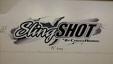 SLINGSHOT by CROSSROADS RV MOTORHOME CAMPER LOGO DECAL BLACK SILVER 21x71GRAPHIC