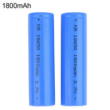 2 Pcs 18650 1800mAh 3.7V Rechargeable Li-ion Battery For Flashlight Torch LO