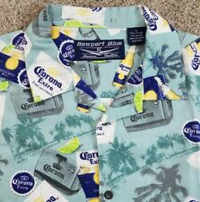 Newport Blue XL Short Sleeve Tropical Corona Extra Shirt