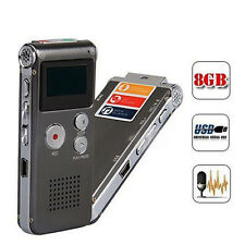 8GB Digital Rechargeable Audio Voice Recorder Dictaphone Telephone MP3 Player