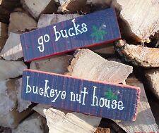Ohio State Buckeyes Handmade Wooden Signs