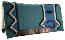 """TEAL 36"""" x 34"""" Contoured Pad New Zealand Wool Breathable Memory Felt Center!"""