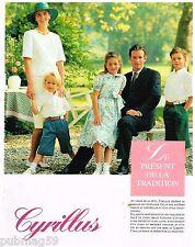 Publicité Advertising 1990 Pret à porter vetements Cyrillus