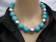 Markenlose Modeschmuck-Halsketten & -Anhänger mit Türkis-Hauptstein für Damen