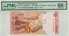 PRINTING ERROR RM10 Zeti Mismatched S/N PMG68EPQ Highest Graded Rare