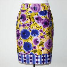 Yoana Baraschi Anthropologie Happenstance Floral Purple Pencil Skirt Size 2 $118