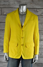 Ralph Lauren Purple Label Yellow Polyester Blazer Jacket M New $1995