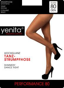 2er Pack Tanz-Ballett Strumpfhosen 80 Den, Gardestrumpfhose, Make up Glänzend
