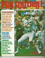 1970 Pro Football Report magazine Joe Namath, New York Jets GOOD