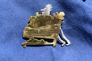 Unique Arts Craft 925 Stirling Silver Brooch 'Spike Forgets the Shopping List'